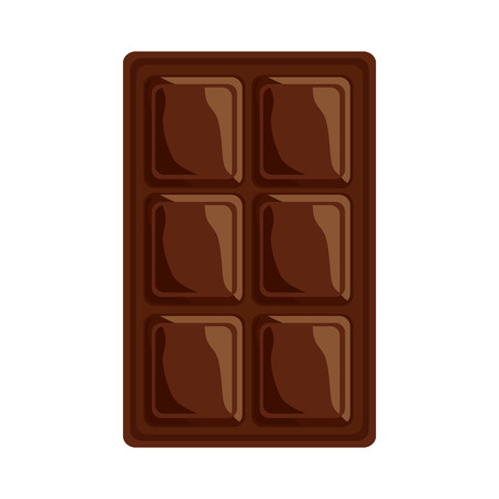 ●チョコレートバーアイコンイメージイラストデザイン。  イラスト・ベクター素材