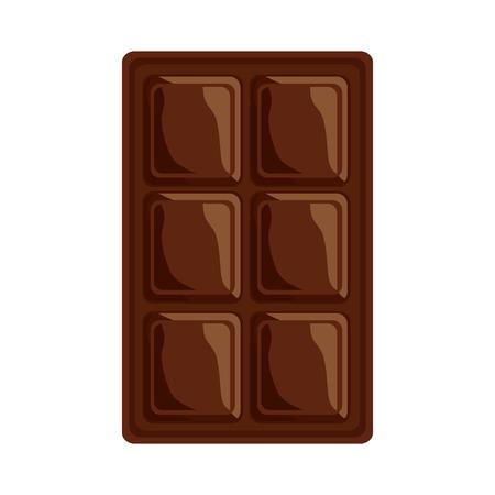 Het ontwerp van de het beeldillustratie van het chocoladereeppictogram.