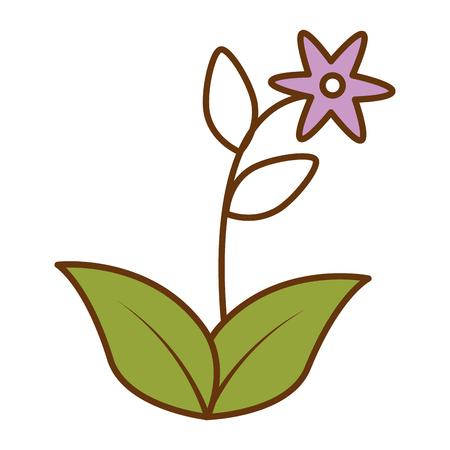 Cute flower garden icon  illustration design.