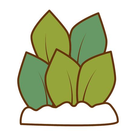植物は孤立したアイコンイラストデザインを栽培しました。