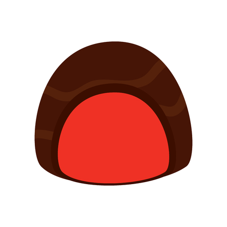Chocolate filled icon image illustration design Illustration