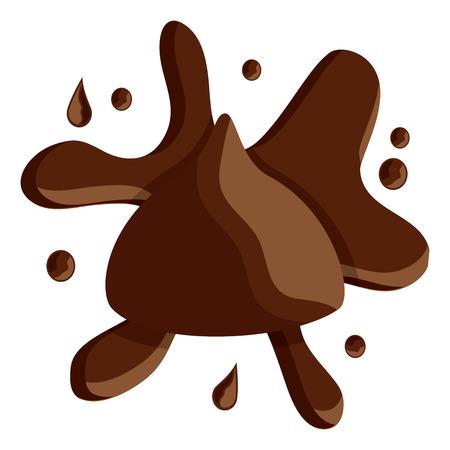 スプラッシュアイコン画像ベクトルイラストデザインのチョコレート噛み付き  イラスト・ベクター素材