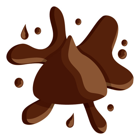 Chocolate bite with splash icon image vector illustration design Ilustrace