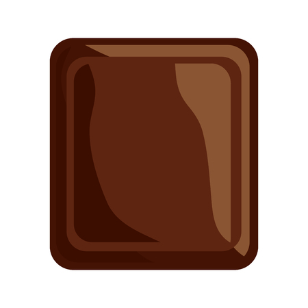 Chocolate tablet icon image vector illustration design
