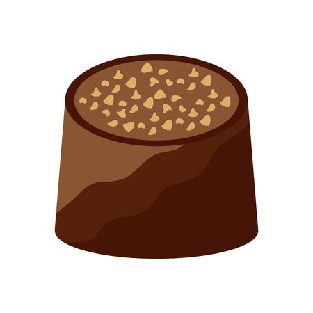 Chocolate bite icon image vector illustration design. Stock Vector - 92388813