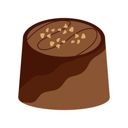 Ontwerp van de het beeld het vectorillustratie van het chocoladebeet pictogram
