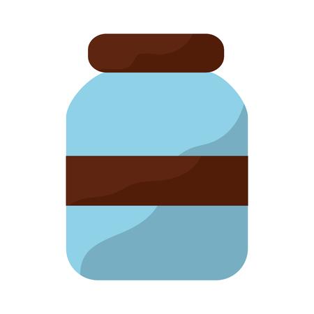 ●ガラス瓶アイコン画像ベクトルイラストデザイン。  イラスト・ベクター素材