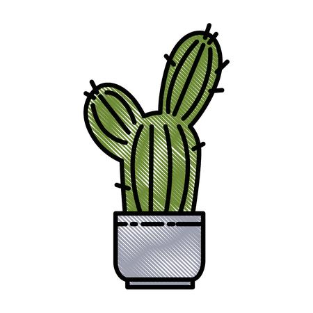 Pot with desert plant vector illustration design. Stok Fotoğraf - 92388904