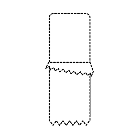 래퍼 아이콘 이미지 벡터 일러스트와 함께 초콜릿 바 디자인 검은 점선. 벡터 (일러스트)