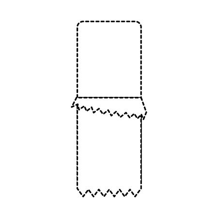 Chocoladereep met van de het beeld vectorillustratie van het omslagpictogram het ontwerp zwarte gestippelde lijn. Stock Illustratie