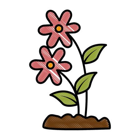 Cute flower garden icon vector illustration design. Stock Vector - 92388968