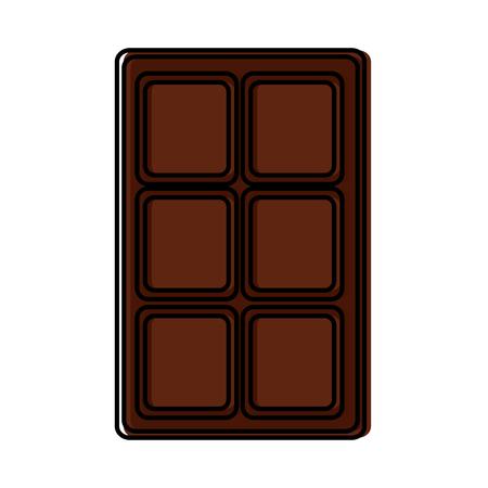 チョコレートバーアイコン画像ベクトルイラストデザイン。