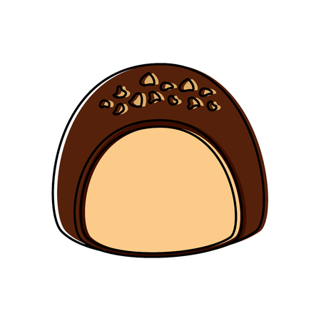 Chocolate filled icon image illustration design. Фото со стока - 92396287