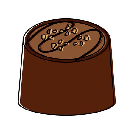 チョコレート一口アイコン画像ベクトルイラストデザイン