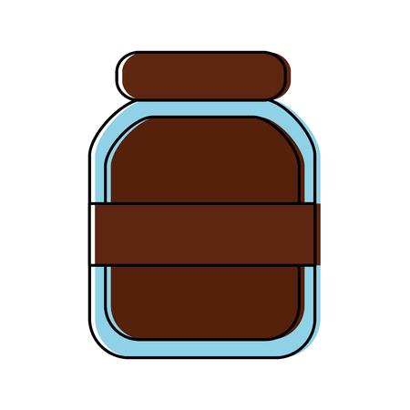 ●透明ガラス瓶アイコンイメージイラストデザイン。