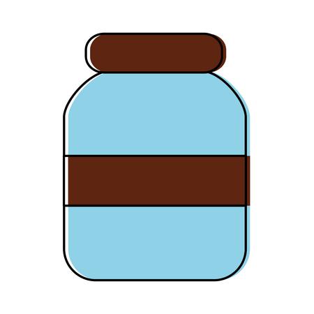 Transparent glass jar icon image  illustration design.