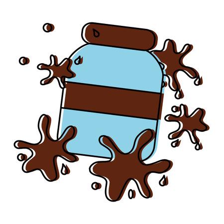 Chocolate spread splatters icon image illustration design.