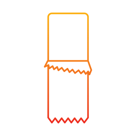 Chocolate bar with wrapper icon image illustration design in yellow to red ombre line.