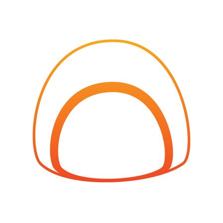 Chocolade gevuld pictogram afbeelding illustratie ontwerp in gele tot rode ombre lijn.