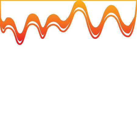 아이콘 이미지 그림 디자인 노란색에서 빨간색 옴 줄 떨어지는 그림판.