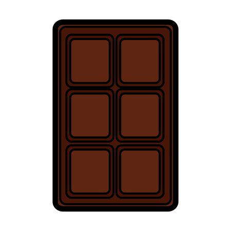 Chocolate bar icon image vector illustration design.