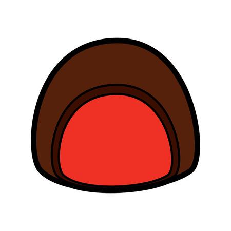 Chocolade gevuld vector de illustratieontwerp van het pictogrambeeld