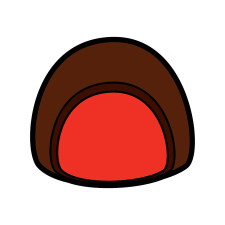Chocolate filled icon image vector illustration design