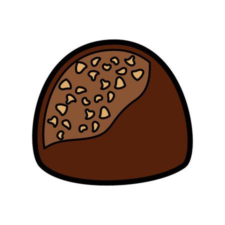 초콜릿 물린 아이콘 이미지 벡터 일러스트 디자인