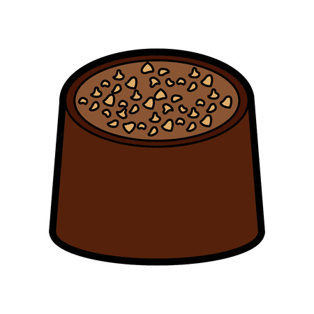 Chocolate bite icon image vector illustration design