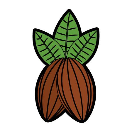 카카오 열매 초콜릿 아이콘 이미지 벡터 일러스트 레이션 디자인