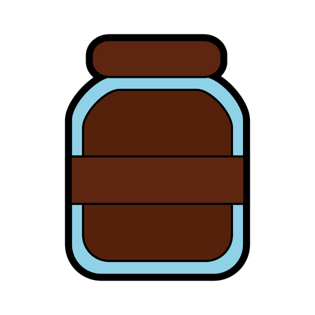 Glass jar icon image vector illustration design. Illustration
