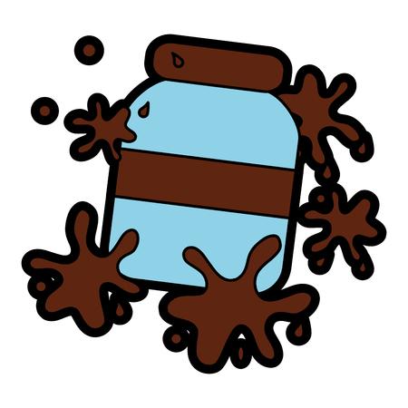 초콜릿 확산 뿌려 놓은 것 아이콘 이미지 그림 디자인. 일러스트