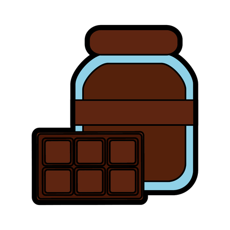 Chocolate spread and bar icon image illustration design. 일러스트