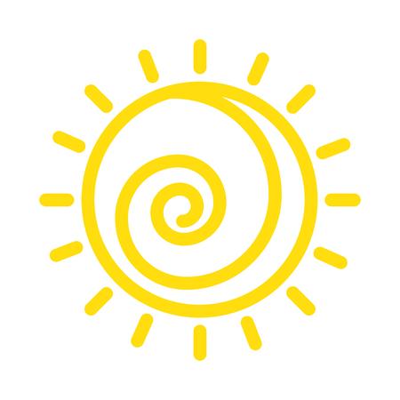 Summer sun drawing icon vector illustration design. Illustration