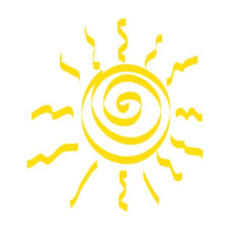 Summer sun drawing icon illustration design. Illustration
