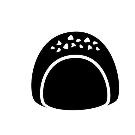 チョコレート充填アイコン画像ベクトルイラストデザイン。