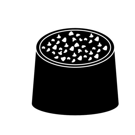 Ontwerp van de het beeld het vectorillustratie van het chocoladebeet pictogram.
