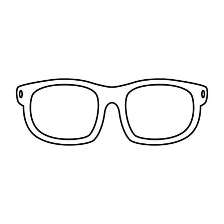 Eye glasses isolated icon illustration design.