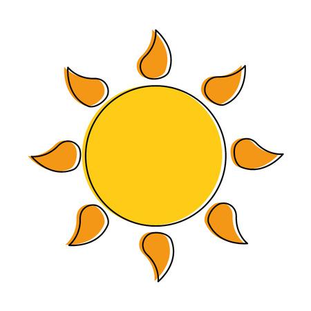 Summer sun isolated icon illustration design. Illustration