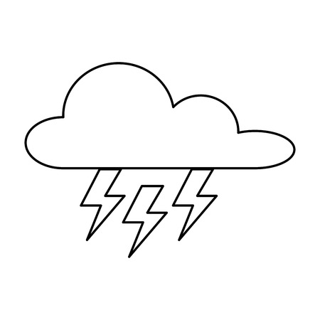 weather cloud with thunders rays vector illustration design Ilustrace
