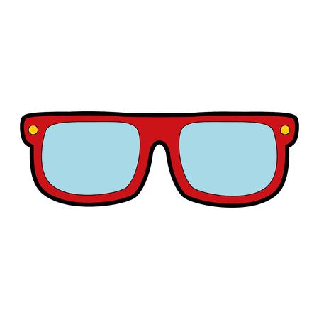 Eye glasses isolated icon vector illustration design Çizim