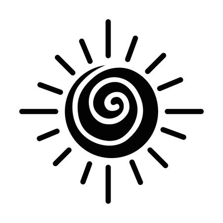 Summer sun isolated icon vector illustration design Stock Illustratie