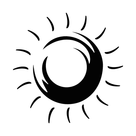 Summer sun isolated icon vector illustration design Çizim