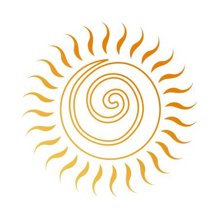 summer sun drawing icon vector illustration design Illustration