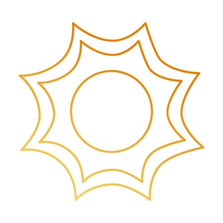여름 태양 절연 아이콘 벡터 일러스트 디자인