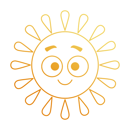 Summer sun happy character vector illustration design.