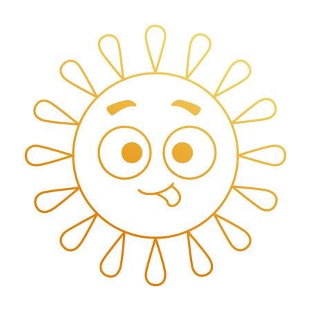 Summer sun crazy character vector illustration design.