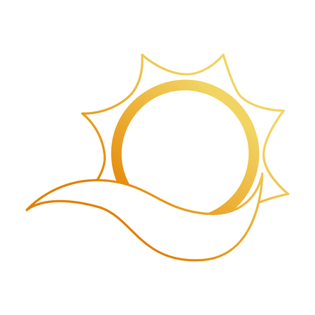 summer sun with wind vector illustration design