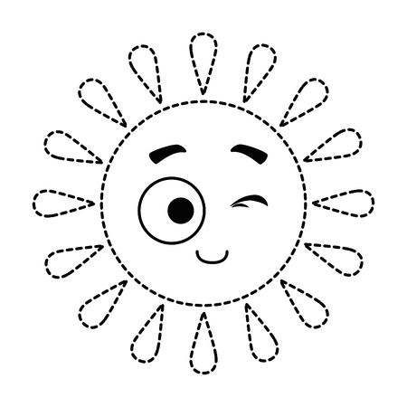 summer sun accomplice kawaii character vector illustration design