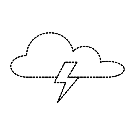 weather cloud with thunders rays vector illustration design Illustration